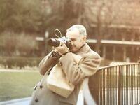 Distinguished Man Taking Photo 1970 Photograph Vintage Snapshot Vintage Camera