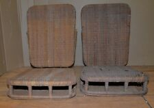 Pair antique wicker boat canoe seats rattan adirondack collectibles repair lot