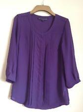 Betty Jackson Black. Womans Purple blouse. Size 8. New.