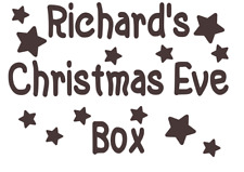 Christmas Eve Box Sticker Personalised Party Decal Gift Vinyl Stars 9