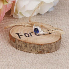 Wooden Wood Slice Decoration Wedding Items Stuff Vintage Chic Ring Holder