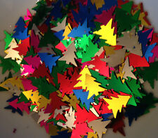 10g  Mixed Colours Christmas Trees Sequins 16.0mm x 14.0mm Reduced Price