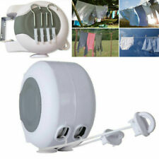 26M Retractable Washing Line Airer Hanging Horse Outdoor Laundry Dryer Rope Rack