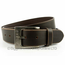 """New MENS Brown Distressed REAL LEATHER BELT 1.5"""" Wide MILANO All Sizes 28 to 48"""