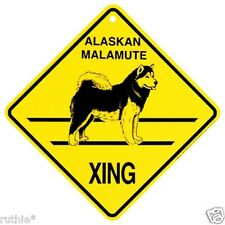 Alaskan Malamute Dog Crossing Xing Sign New