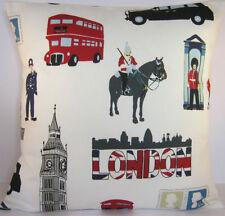"17"" LONDON CAPITAL BRITISH UNION JACK Cotton Cushion Evans Lichfield England"