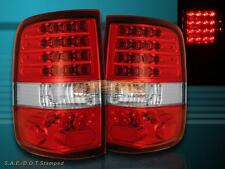 04-08 FORD F-150 F150 TAIL LIGHTS RED CLEAR STYLESIDE LED