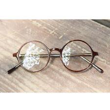 Nerd Brille filigran rund Glasses Klarglas Hornbrille treber 19R0 Brown findhoon