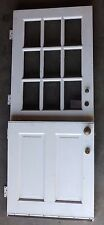 Vtg 32x80 Dutch Door 9 Lite Top Old Shabby Cottage Exterior Entry 172-17E
