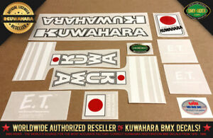 Kuwahara ET BMX Decal Set (1982) Official Licensed Product! Factory Correct Spec