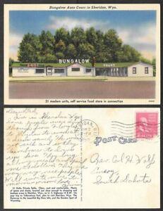 1952 Wyoming Postcard - Sheridan - Bungalow Auto Court - Hotel, Motel