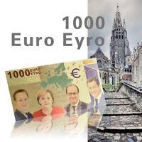 WR 1000 Euro In Farbe Goldfoilbanknote Schein Banknote Schöner Zustand