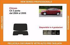 pellicola oscurante vetri pre tagliata citroen c 4 3p dal 2004 al 2006 kit lunot