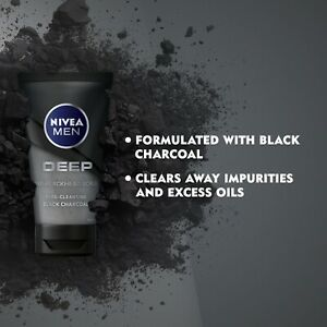 NIVEA MEN Deep - Anti-Blackhead Pore Cleansing Exfoliating Face Scrub 75ml