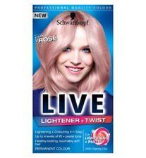Tintes y coloración permanentes rosas para el cabello