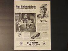 1941 POLL-PARROT STAR BRAND SHOES  Uncle Sam Demands vintage art print ad