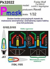 FOCKE WULF FW-190 A-8 A-8/R11 CANOPY PAINTING MASK TO REVELL  #32022 1/32 PMASK