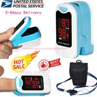 SpO2 PR Finger tip Pulse Oximeter Blood Oxygen Heart Rate Monitor Pouch& Lanyard