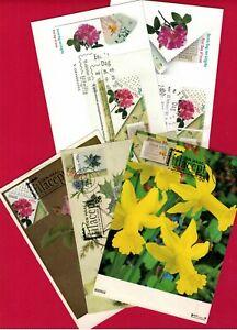 1988 Netherlands B635-B637 Nice FLOWERS Maxicard /FDC set of 5