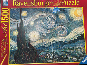 Ravensburger Van Gogh Starry Night 1500pc Jigsaw Puzzle Excellent Condition