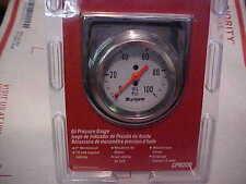 SUNPRO  2'' oil pressure gauge,chrome with  BRACKET,complete,rat rod camaro