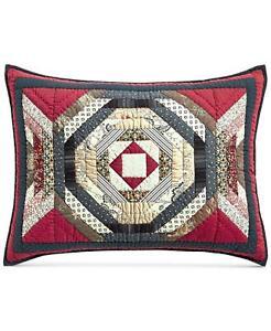 Martha Stewart Collection Artisan Patchwork Standard Sham Red