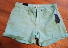 New NWT~ Crown & Ivy Women's Linen Shorts Cool Mint Green Size 2 $54.50