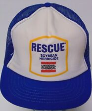 Rare Vtg Uniroyal Rescue Soybean Herbicide Hat Snapback Trucker Hat Made In Usa