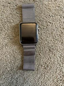Apple Watch 42mm Stainless Steel Case Milanese Loop