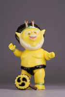Dream Rocket Raijin Thunder God Sofubi Kaiju Figure Real Head MVH Paul Gargamel