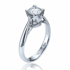 Solitaire White Gold Very Good 14Carat Fine Diamond Rings