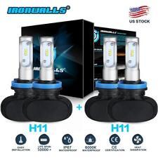 Combo H11 + H11 LED Headlight Kit for Dodge Grand Caravan 2011-17 High Low Beam