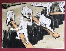 Thomas Bernstein, Über Schluchten, aus der Serie Sechs Ausflüge, Lithographie