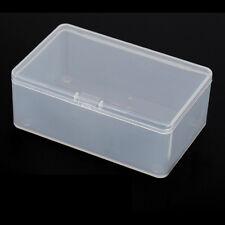 Carré en plastique transparent avec couvercle rangement boîtier conteneur