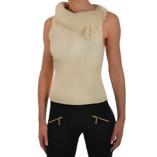 Splash Out Womens Sleeveless Ribbed Roll Neck Jumper Sweater Vest Top - 8/10