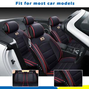 Größe M Leder Deluxe 5-Sitzer Autositzbezug ganz vorne+Rückenkissen MIT/Kissen
