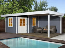 Weka Gartenhaus Designhaus 213 B Gr.1, 5-Eck, grau, 541 x 238 cm