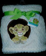 "NEW DISNEY BABY THE LION KING SIMBA  SOFT PLUSH BABY BLANKET.  30"" X 40"""