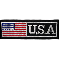 USA Iron On Patch Sew On Cloth United States of America Flag US Applique Badge