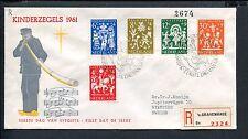 FDC E49 - E 49, Kinderzegels, met getypt adres naar Zweden
