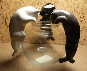 "Vintage Aquarium | 3 Lot | 4"" Ceramic Climbing Cats for Glass Bowl | Old Stock"