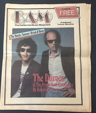 Vtg 1979 Bam So Cal rock newspaper magazine Motels Durocs Ben Fong Torres