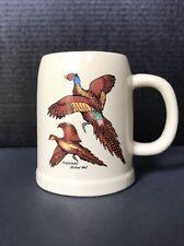Tripar International Stein Mug Tankard Ring Neck Pheasant Birds Vintage