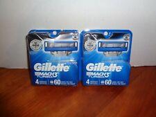 Lot of 2-4 Packs 8 Total Gillette Mach3 Turbo Mens Razor Blade Refill Cartridges