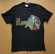 Vintage 1980 HAWAII T SHIRT - Black w/Parrot 80s rainbow/print island/beach/surf