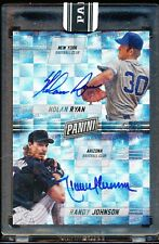 2016 PANINI BLACK BOX  NOLAN RYAN RANDY JOHNSON AUTO 1/1 HOF AUTOGRAPH