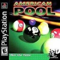 PS1 American Pool Playstation Game PS1 Used Complete