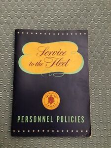 Vintage Mare Island Navy Service To The Fleet Personnel Policies May 1947 Book