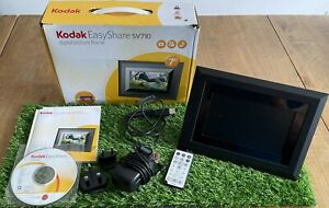KODAK EasyShare SV710 DIGITAL PICTURE FRAME Boxed 100% Complete & Working VGC