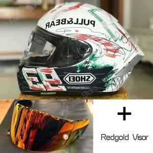 X14 X-Spirit 3 Full Face Motorcycle DOT Helmet 93 Marquez Anti-fog White Helmet